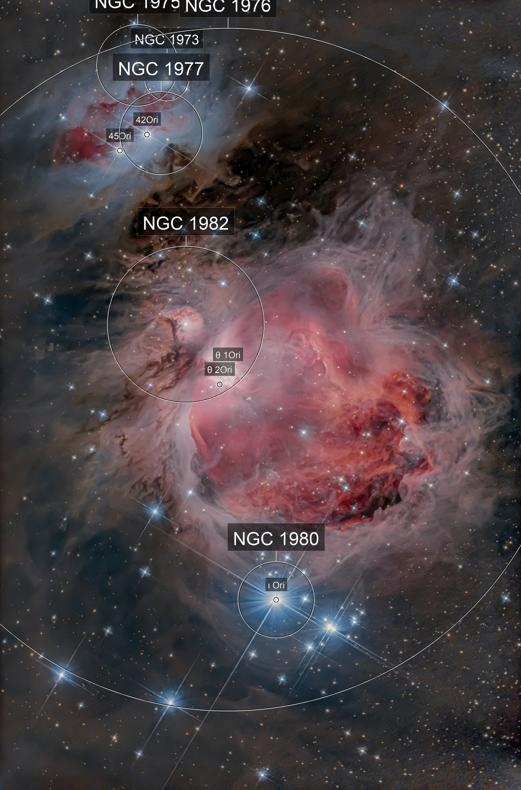 The great Orion nebula M42 & friends