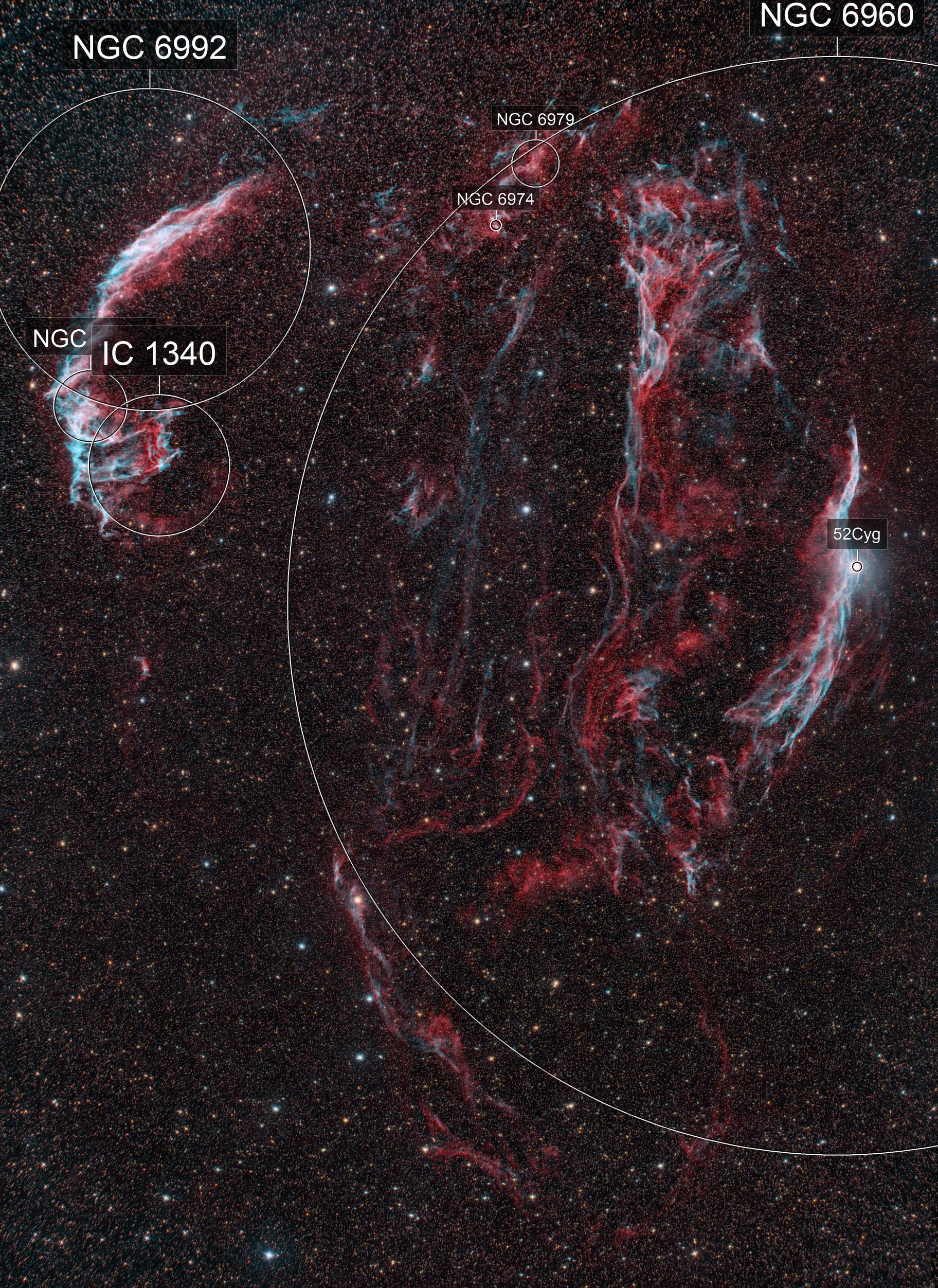 Cygnus Loop RGBHOO