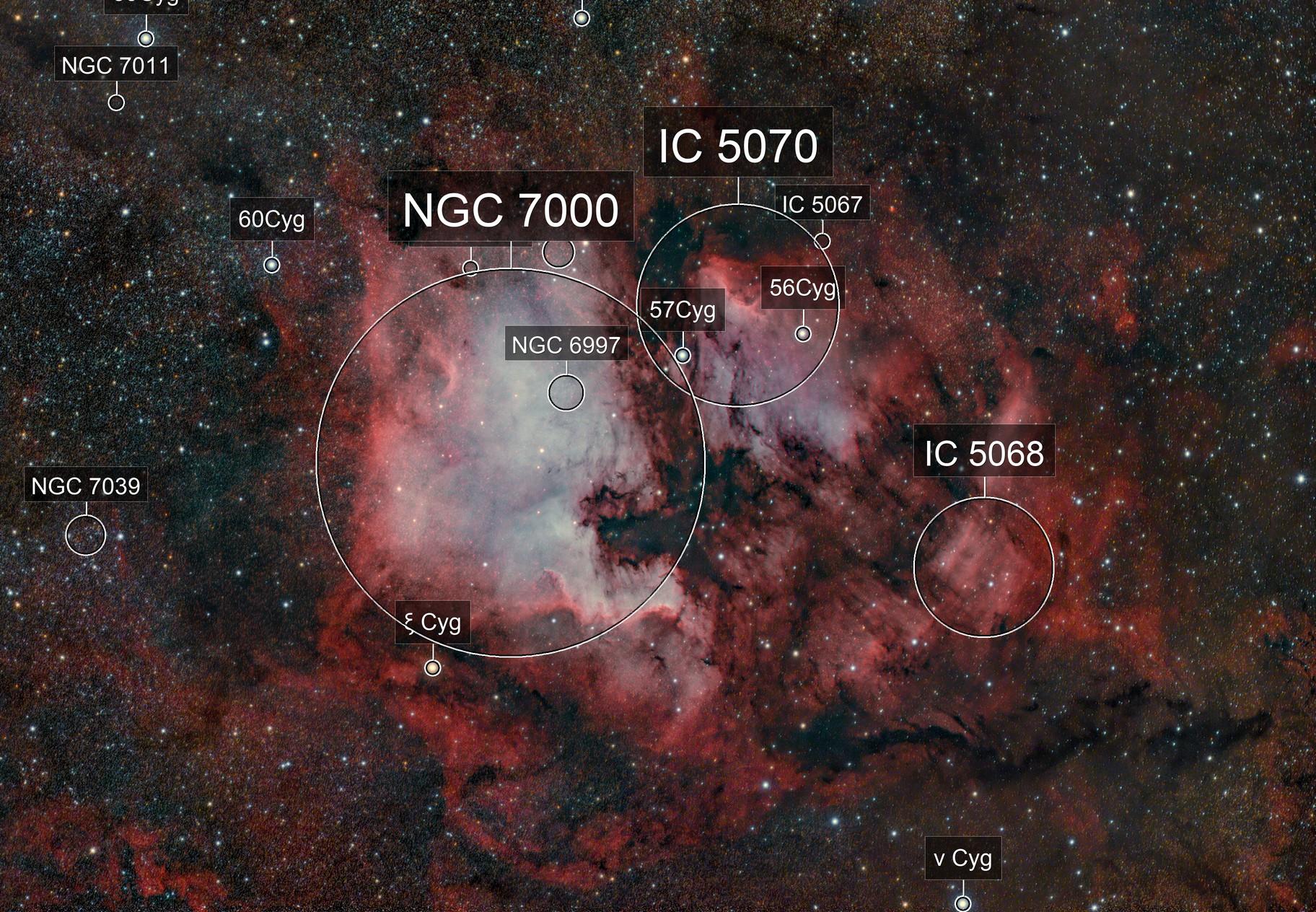 Northamerica & Pelicane nebula