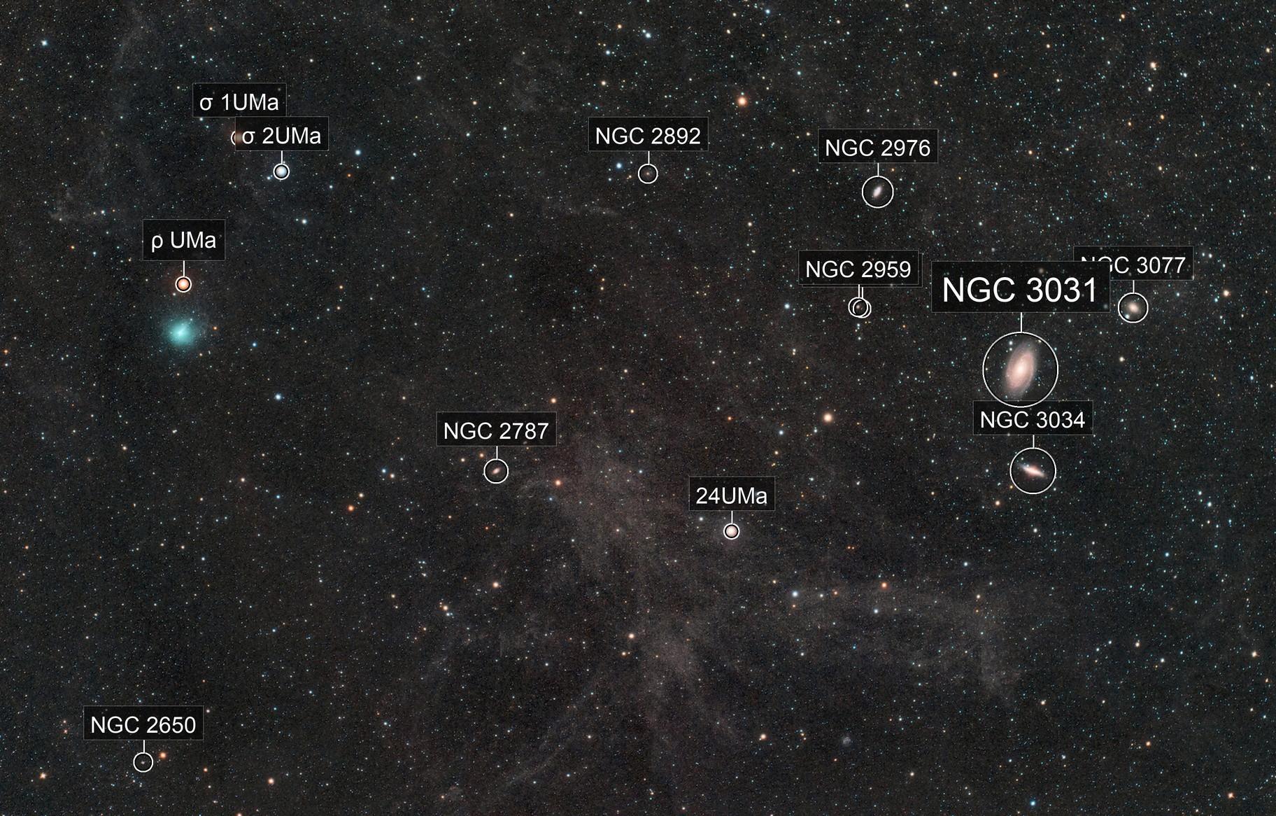 Comet C/2019 Y4 Atlas near M81 & M82 with IFN