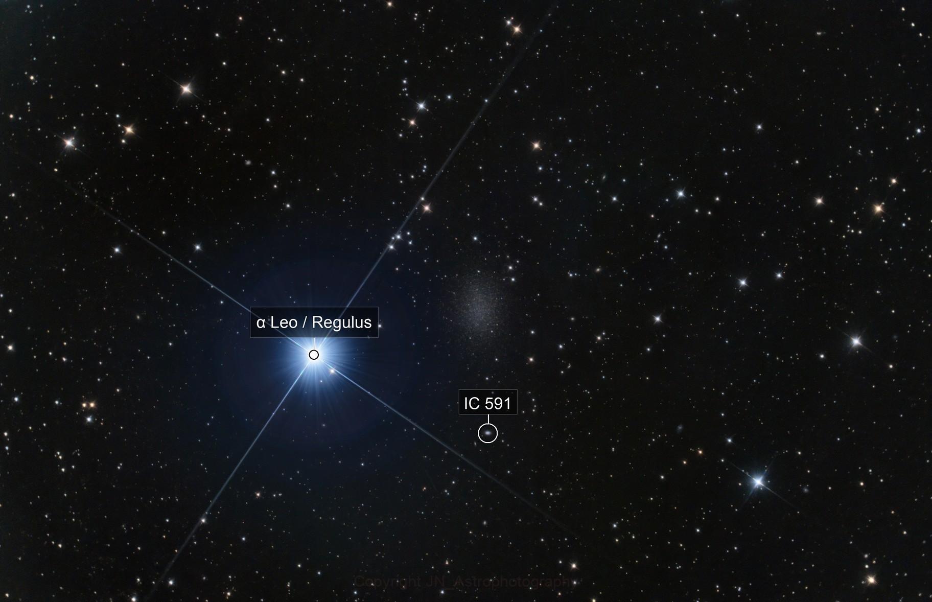 Leo I dwarf galaxy & Regulus