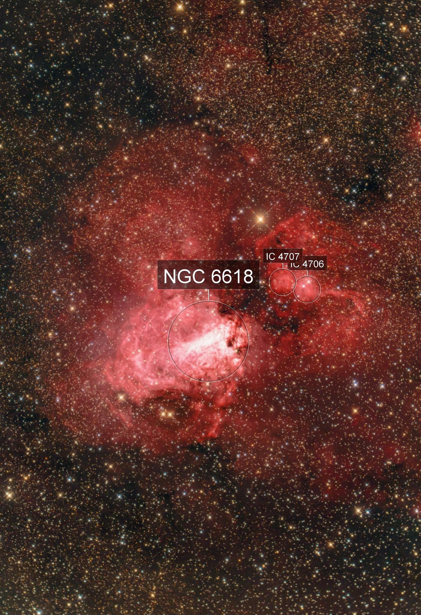 The flying Swan Messier 17