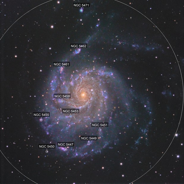M101  with different setup of Sky Processing Team/C8EdgeHd 2m focal and Ts102 for colors