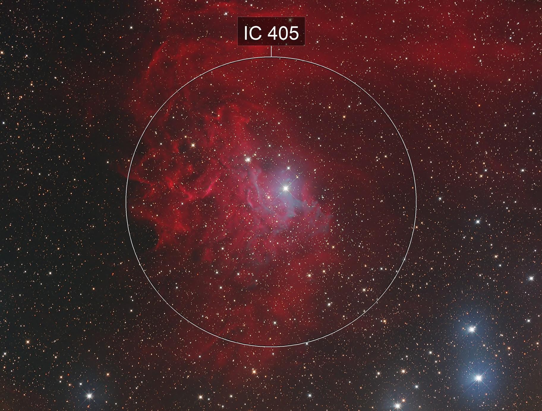 IC 405 the Flaming Star nebula