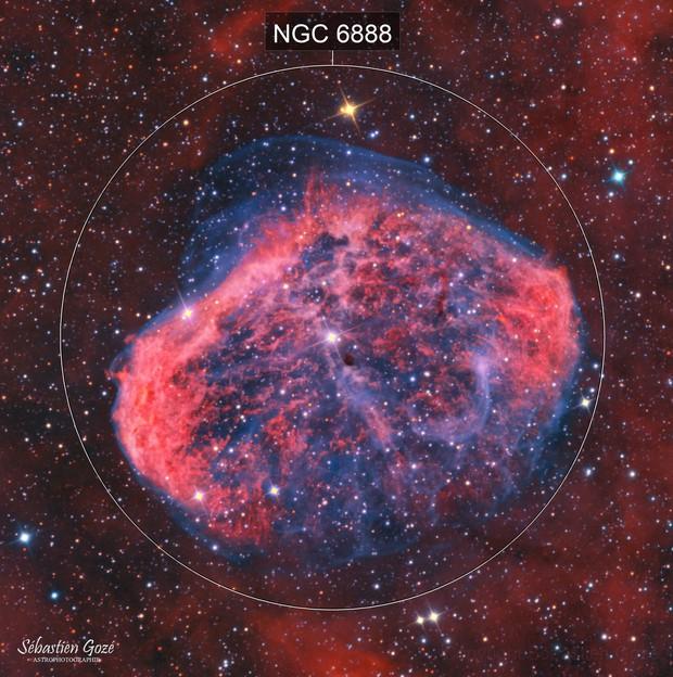NGC 6888 - LA nébuleuse du croissant en HaOO