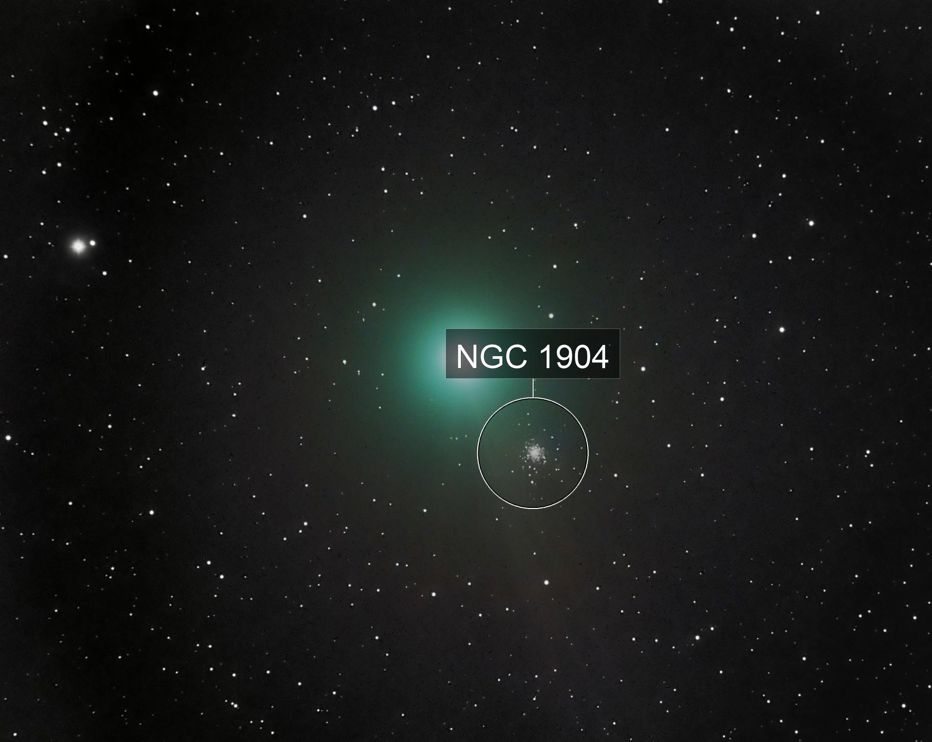 C/2017 E4 Lovejoy Comet near M79 - LRGB
