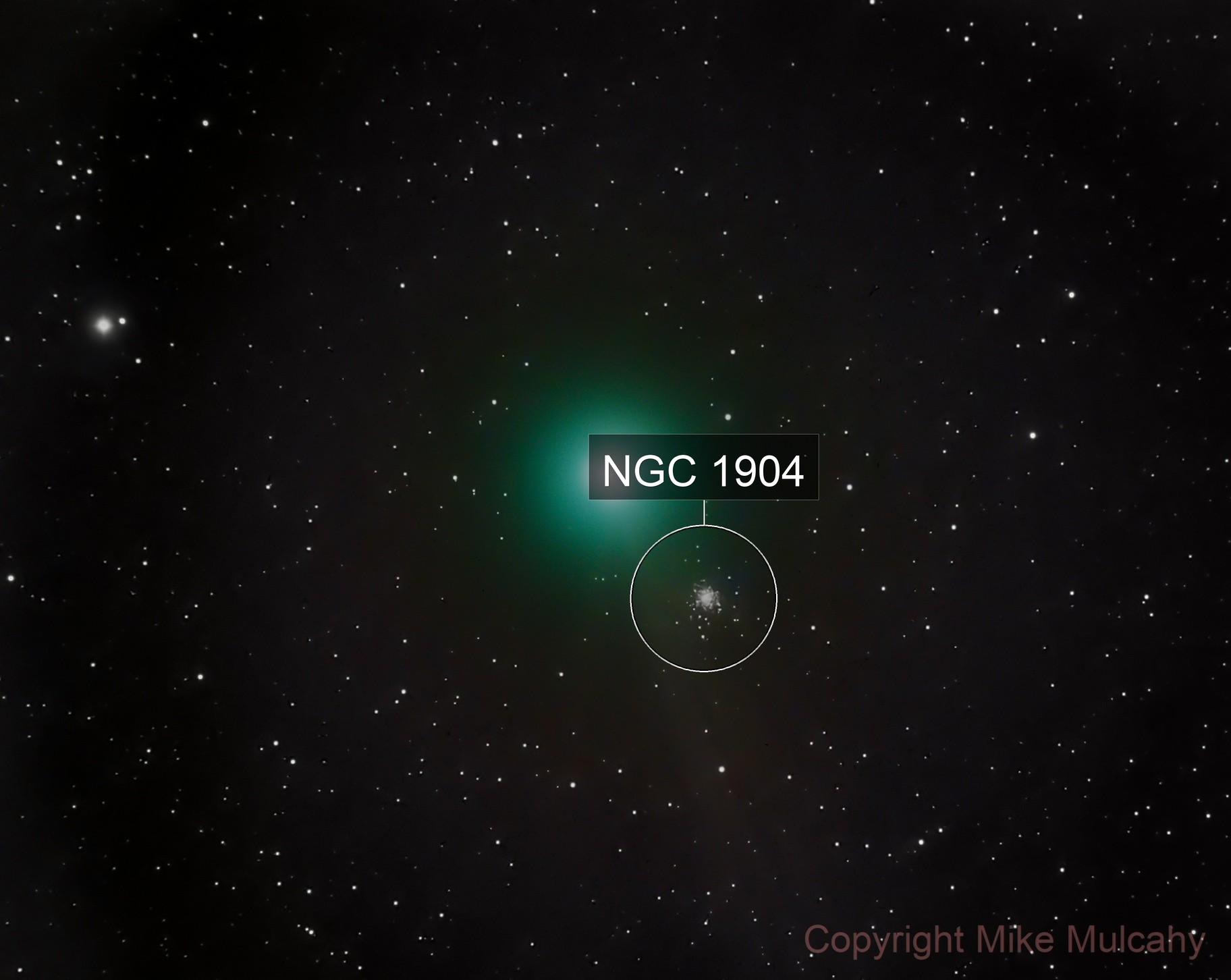 Comet C/2013 R1 - Lovejoy near M79 -- LRGB