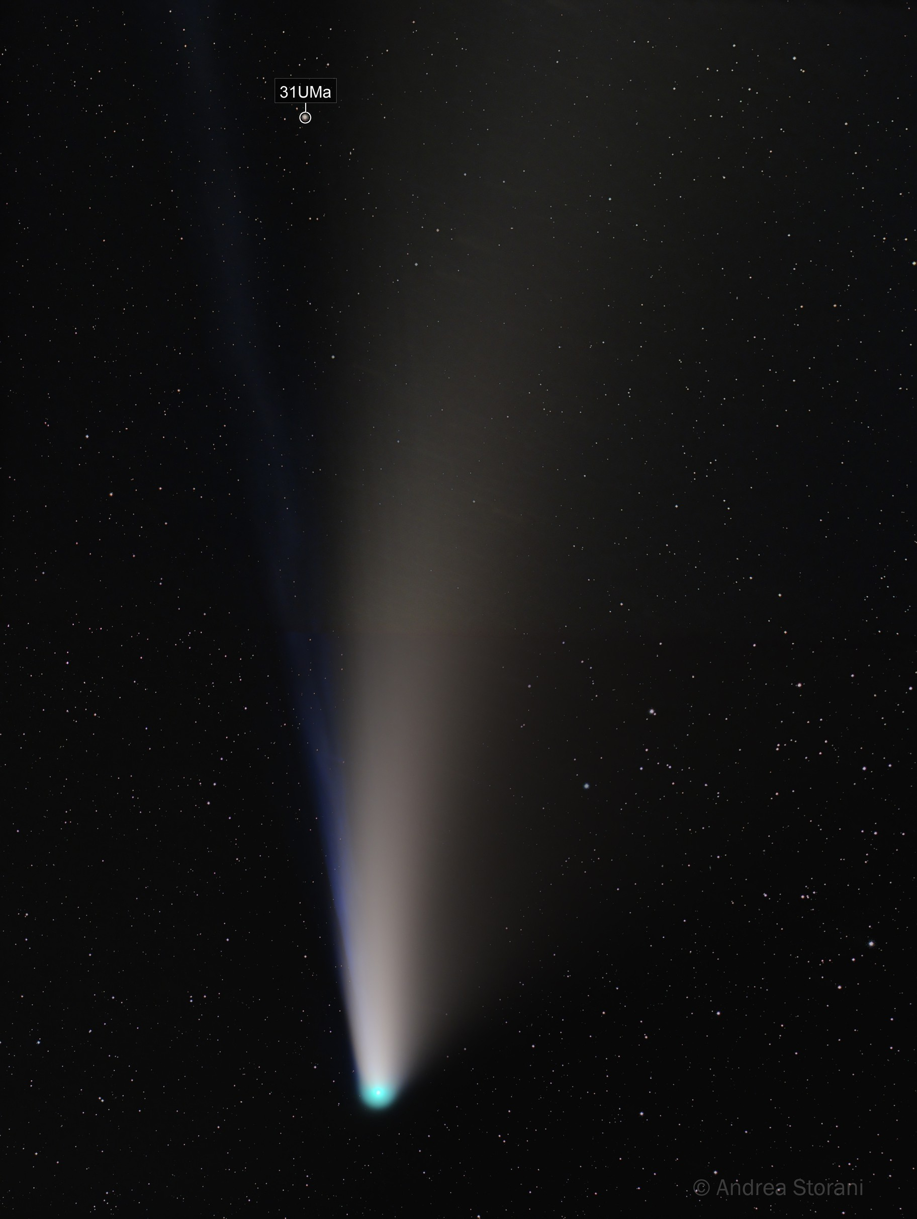 Comet C/2020 F3 NEOWISE 21/07/2020 (2 panel mosaic) - magnitude 3.0