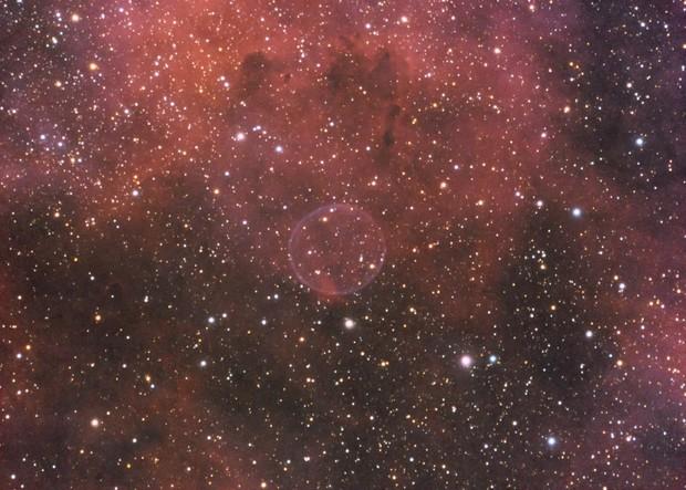 Soap Bubble Nebula (PN G75.5+1.7) in HSO