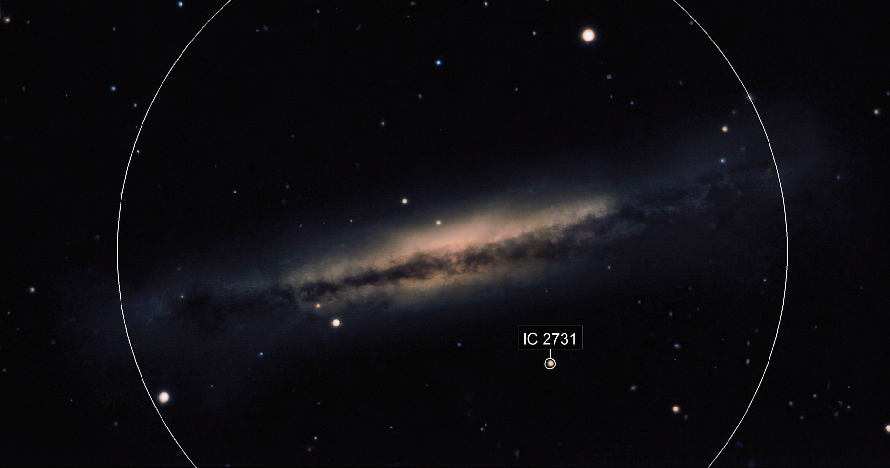 NGC 3628 1552 5sec Subs