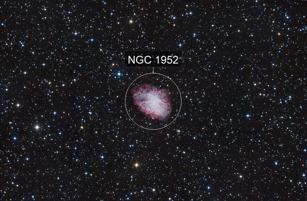Messier 1 with Ha 3nm channel
