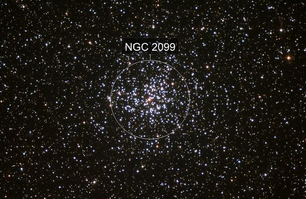Open cluster Messier 37 in Auriga