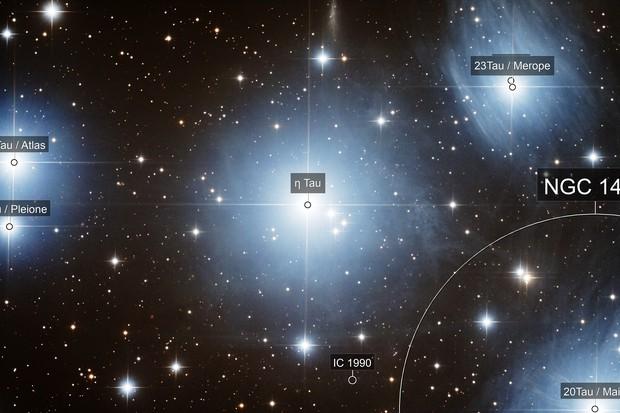 Alcyone inside Pleiades (M45)