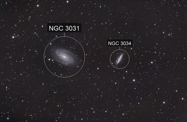 "M81 & M82 ""wide field"" from urban Denver"