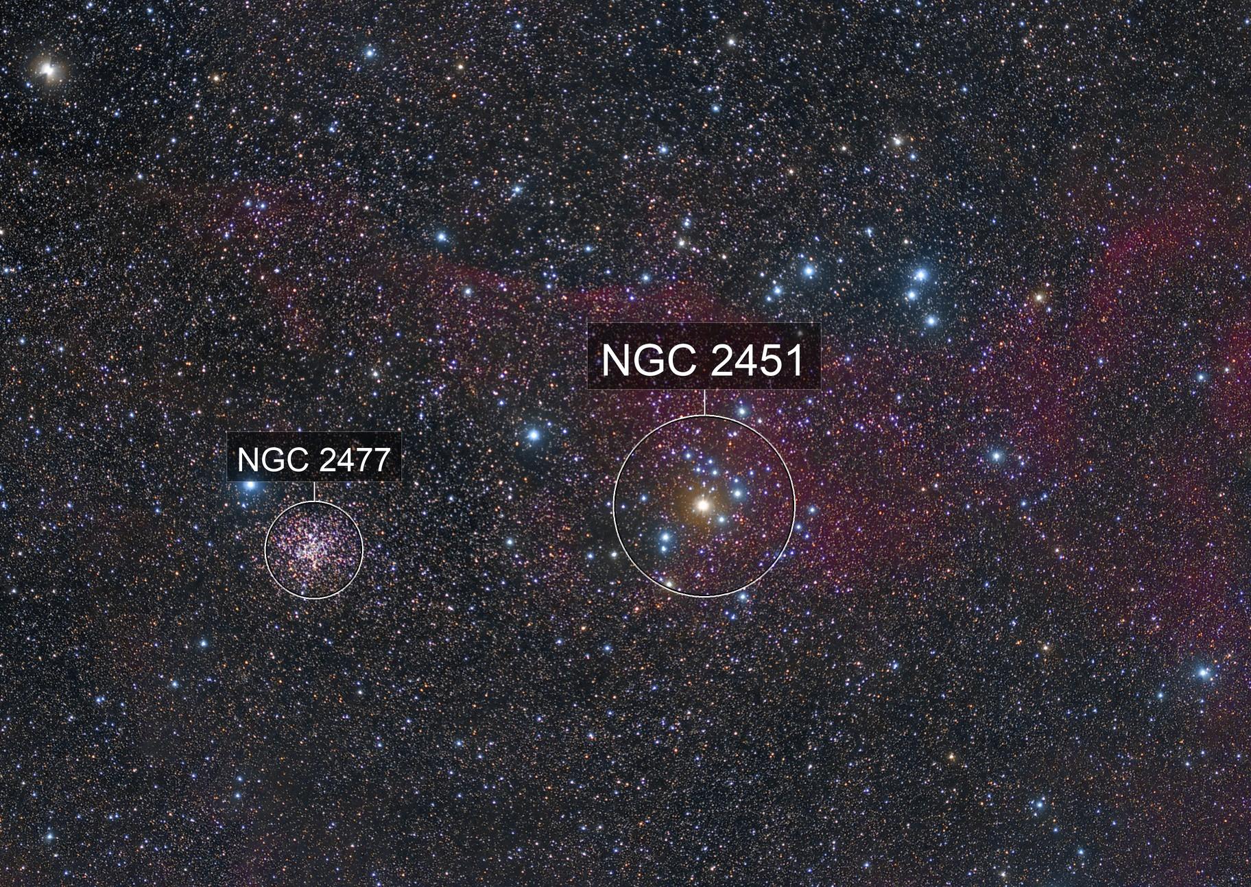 NGC 2451 & NGC 2477