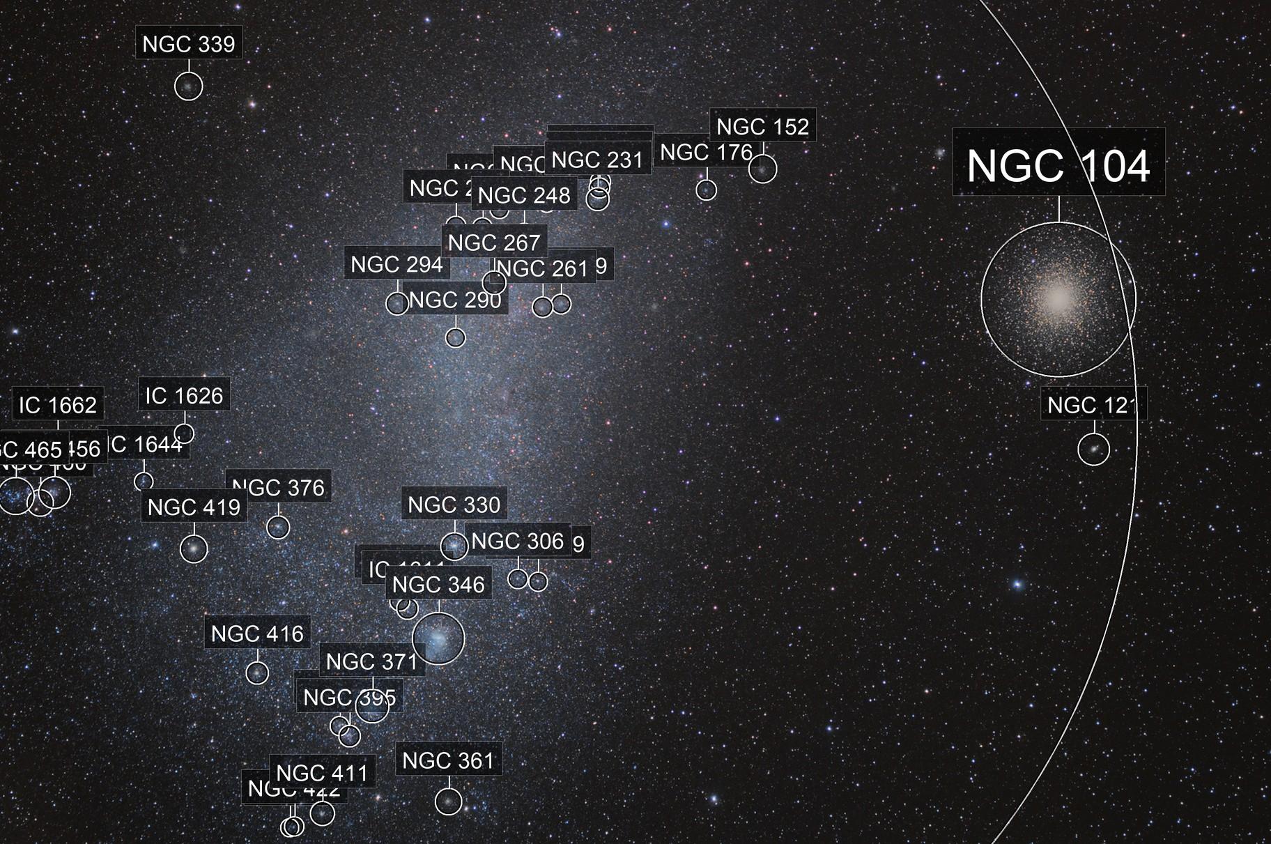Small Magellanic Cloud + 47 Tucanae