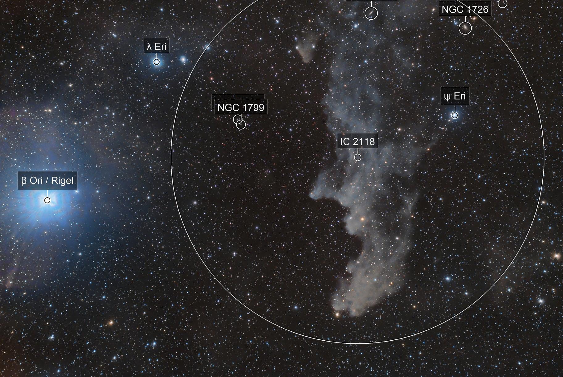 Witchhead Nebula (IC 2118)