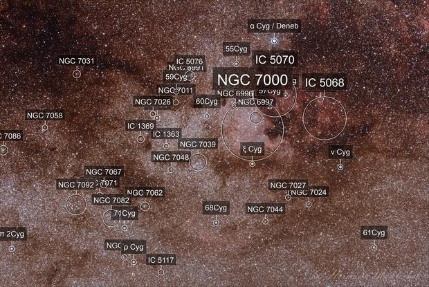 NGC 7000 region