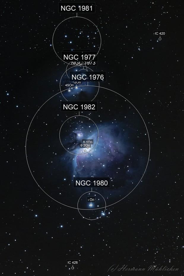M 42, M 43 and NGC 1977