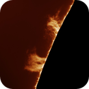Solar prominence, 8/18/2018,                                Patrick Hsieh