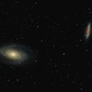 M81 Bode Galaxy & M82 Cigar Galaxy,                                Greg Derksen