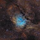 NGC6823 & NGC6820 en SHO,                                Georges