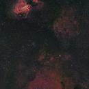 M17 Omega Nebula to M24 Sagittarius Star Cloud - 2 panel mosaic,                                herwig_p