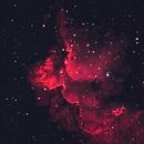 Wizard Nebula NGC 7380 in Bi-colour revised,                                Barczynski