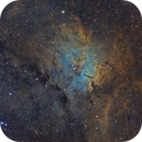 NGC 6820  (Sh 2-86) in  Vulpecula with SHO Hubble Palette,                                Cfosterstars