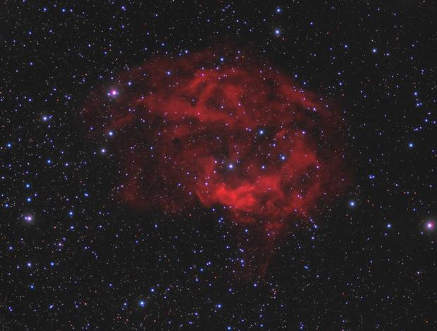 Lower's Nebula (Sh2-261) in Ha + RGB (Version 1),                                Scott Davis