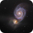 M51 Galaxy, a LRHaGB picture,                    Niels V. Christensen