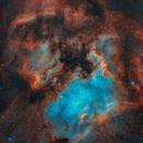 NGC7000 and IC5070 in HOO Narrowband,                                AstroPhotoRoss