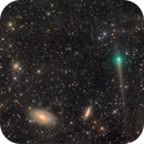 Comet PanSTARRS meets M81 and M82,                                Steed Yu
