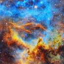 Rosette Nebula - SHO Hubble Palette,                                Kongyangshik