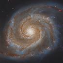 M51 Whirlpool Galaxy Hubble Space Telescope Data edit by Allan Alaoui 8160s HaIGB 01.3.2,                                Allan Alaoui