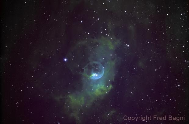 NGC 7635 The Bubble Nebula,                                Fred Bagni