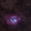 M8 and M20 - The Lagoon and Trifid Nebulae,                                sapwell