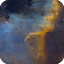 Softness and depth with Hubble palette (NGC7000 SHO),                                OlympusMons-UMONS