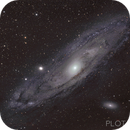 Timelaps of the Andromeda galaxy over a couple of tens of thousands of years,                                Peter Schmitz