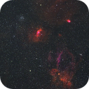 NGC 7635 & Friends - Two Plate Mosaic in HSO,                                Sigga