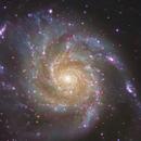 M 101 - Pinwheel / Feuerradgalaxie  Vol.II (crop),                                Lars Stephan