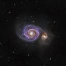 Messier 51 - Whirlpool Galaxy,                                Evelyn Decker