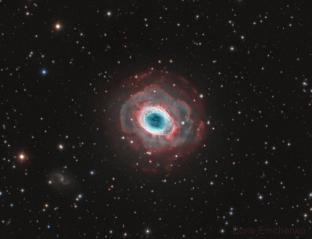 M57 envelope in Ha-OIII-OIII,                                Boris Emchenko