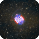 Dumbbell Nebula (M27) in Hα/SII/OIII + RGB,                                Jose Carballada