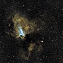 Omega Nebula in Narrowband,                                Jose El Corazon