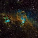 NGC3603 & NGC3576 Statue of Liberty Nebula in SHO,                                TWFowler