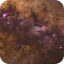 Wide field view on Sagittarius with M20, M8, M16, M17 and M24,                                Christian van den...