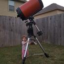 Her first scope C14,                                Justin Daniel