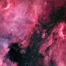 NGC 7000 North American Nebula and IC 5070 Pelican Nebula 2-tile mosaic in Natural Colour Narrowband,                                Francois Theriault