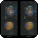 Image of Sh-221 and Sh2-216 as an experimental 3D study,                                Metsavainio